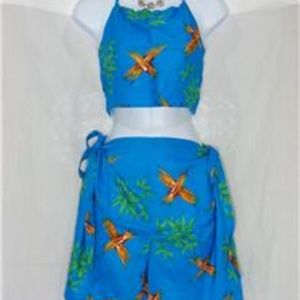 Other - TAHITI TIE WRAP SARONG 2 PIECE BLUE COVERUP